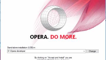 Opera ofrece una versión portátil