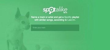 Spotalike, sitio web para crear listas de reproducción con canciones similares en Spotify