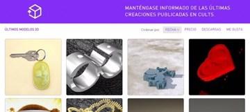 Cults3D, sitio que ofrece un amplio catálogo de modelos 3D listos para ser impresos