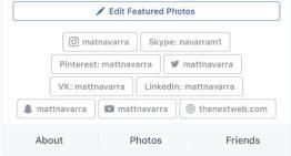 Facebook prepara botones de acceso directo a otros perfiles sociales del mismo usuario