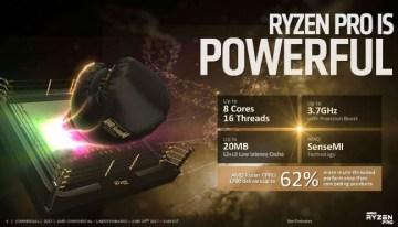 Ryzen Pro, la apuesta de AMD para competir en el entorno empresarial contra la serie vPro de Intel.