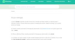 WhatsApp indica como funciona la opción de borrar mensajes