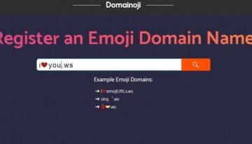 domainoji, el sitio pare registrar dominios con emojis