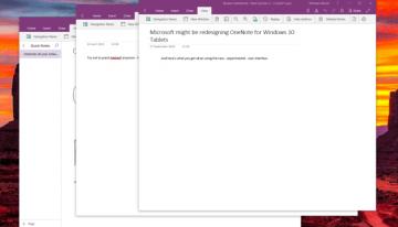 Nueva actualización de OneNote para Windows permite abrir múltiples ventanas