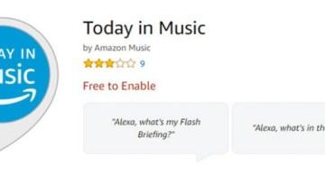 Amazon Alexa estrena la función Today in Music