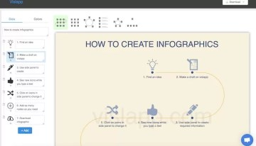 Vislapp, sitio web que ofrece herramientas simples para diseñar infografías