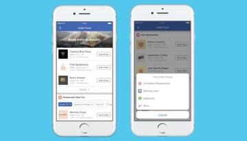 Ya es posible pedir comida desde Facebook en los Estados Unidos