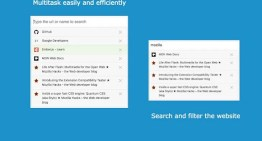 Selección de herramienta para organizar pestañas dentro del navegador