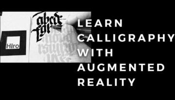 learncalligraphy.today, proyecto que usa la realidad aumentada para mejorar nuestra caligrafía