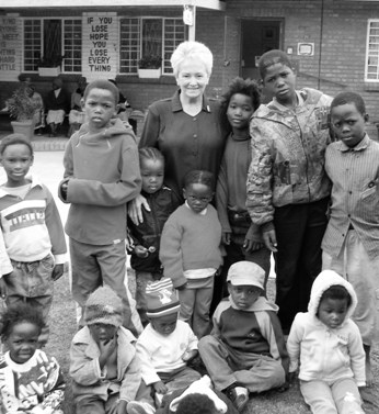 Sister Ethel Normoyle with children at the Missionvale Care Center.
