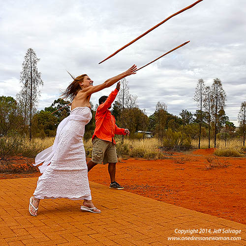 Spear Throwing - Sails in the Desert Hotel - Uluru, Australia