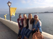Jenny with friends at Seaport Village in San Diego