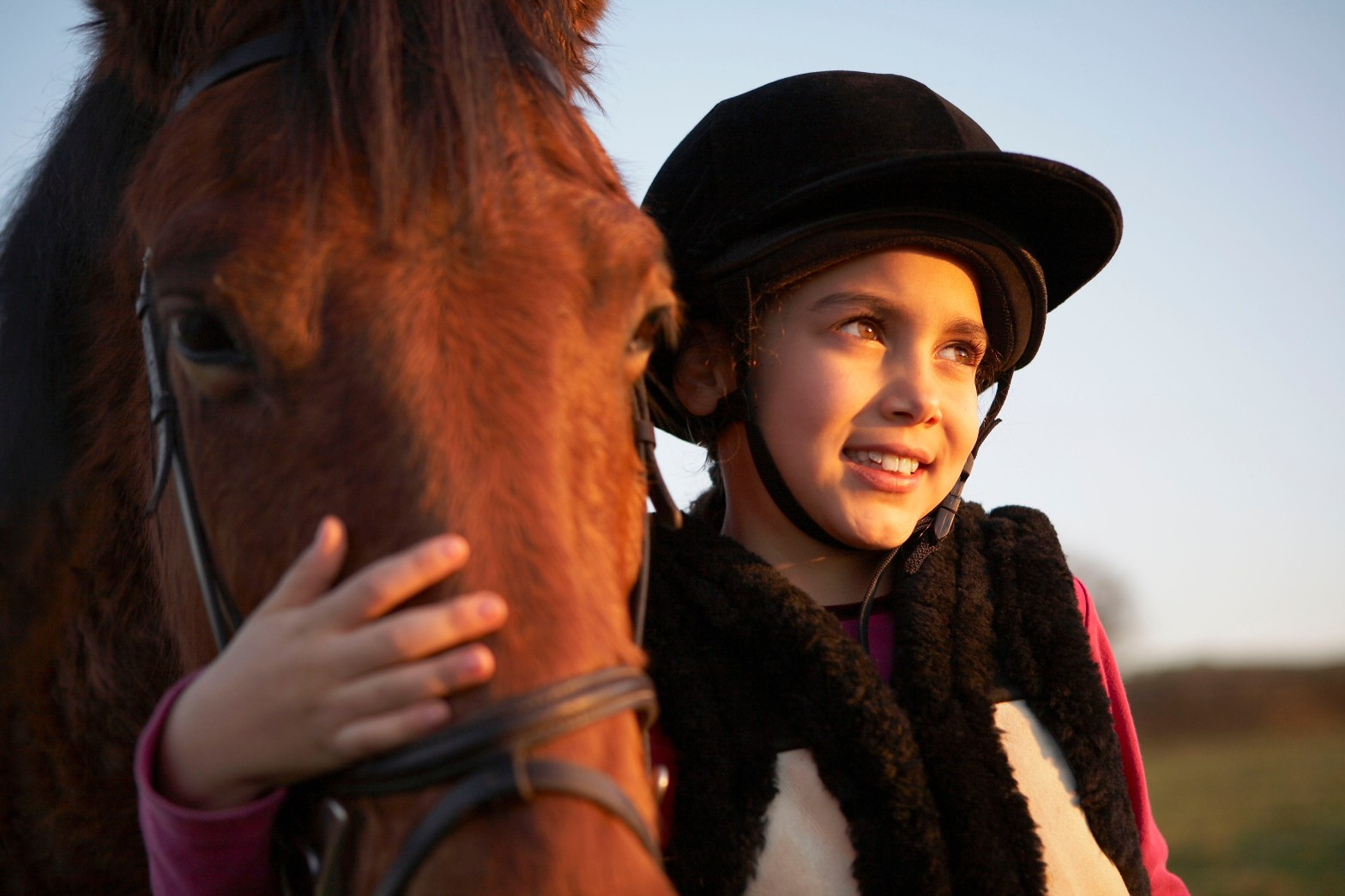 image of girl and horse