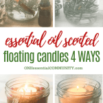 Scented Floating Candles Made With Essential Oils One Essential Community