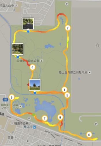 昭和記念公園サイクリング