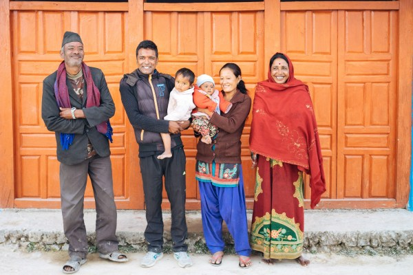 Sita (second from right) with her husband and parents-in-law.