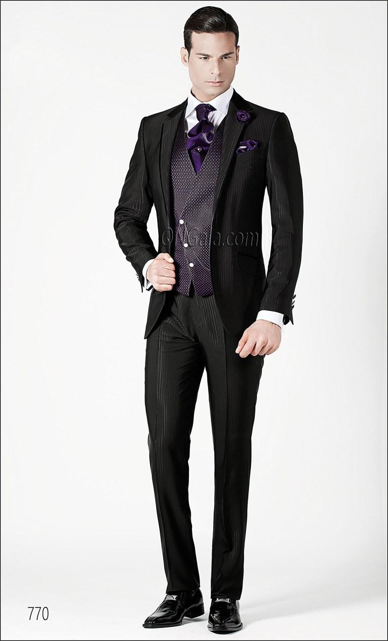 Ottavio Nuccio Gala fekete esküvői öltöny style 770 , Ottavio Nuccio Gala black wedding suit style 770 Forrás:http://www.ottavionuccio.com