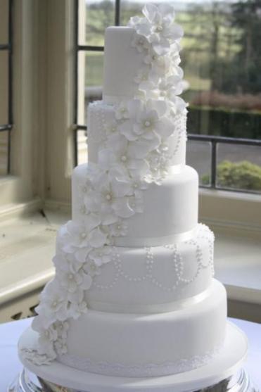 Fehér torta / White wedding cake Forrás:http://trendsurvivor.com