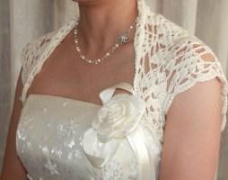 Horgolt esküvői bolero , Crocheted bridal bolero,shrag Forrás:http://www.etsy.com