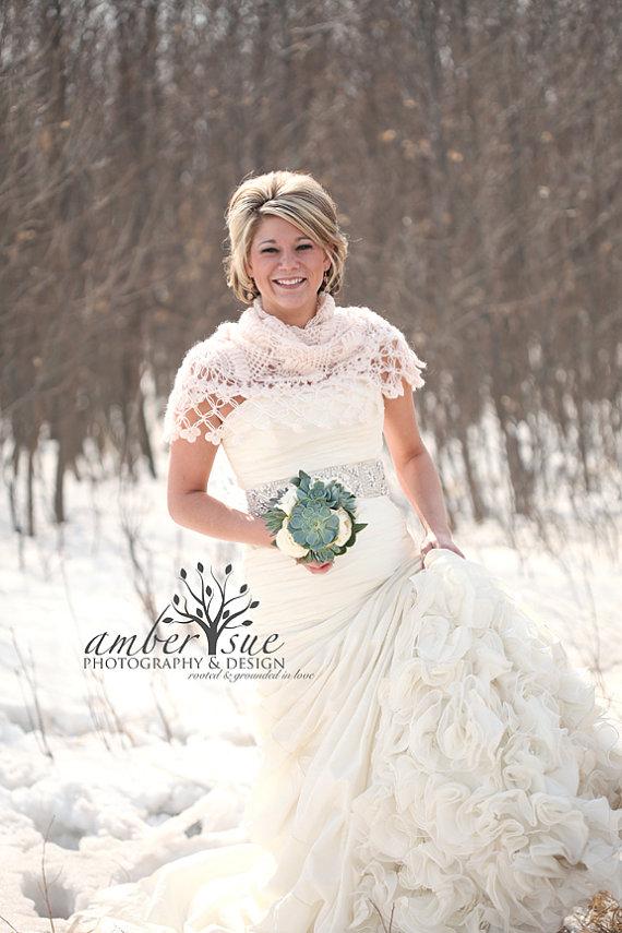 Horgolt esküvői vállkendő 3, Crocheted bridal shawl,shrag 3 Forrás:http://www.etsy.com