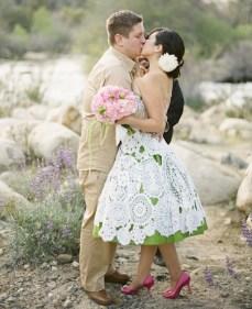 Horgolt menyasszonyi ruha / Crocheted wedding dress Forrás:http://crochetwedding.com