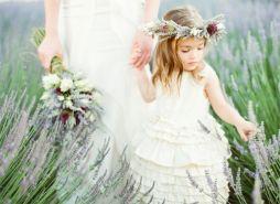 Levendula koszorúslány korona / Lavender bridesmaid crown Forrás:http://kchandlerweddings.blogspot.hu