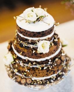 Csupasz menyasszonyi torta 3 / Naked wedding cake 3 Forrás:http://www.modwedding.com