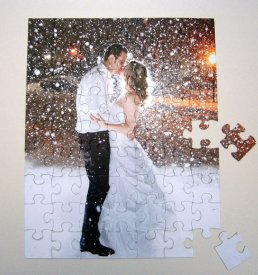 Puzzle esküvői vendégkönyv , Puzzle wedding guest book alternative Forrás:http://www.etsy.com