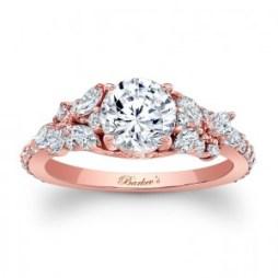 Rózsaszín arany eljegyzési gyűrű 2/ Rose gold engagement ring 2 Forrás:http://www.barkevs.com