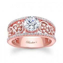 Rózsaszín arany eljegyzési gyűrű 3/ Rose gold engagement ring 3 Forrás:http://www.barkevs.com