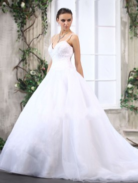 Spagetti pántos menyaszonyi ruha / Spaghetti Straps Ball Gown Wedding Dress Forrás:http://www.shopweddingdress.co.uk