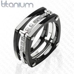 Szögletes titanium gyűrű , Titanium ring Forrás:http://www.etsy.com