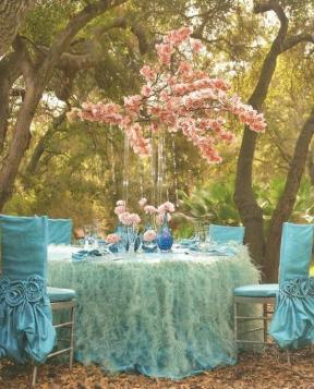 Türkiz dekoráció 2 / Turquoise decoration 2 Forrás.http://weddbook.com