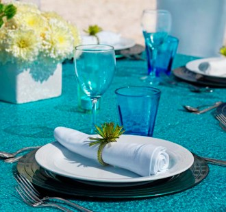 Türkiz dekoráció 3 / Turquoise decoration 3 Forrás:http://www.weddingsromantique.com