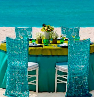 Türkiz dekoráció 5 / Turquoise decoration 5 Forrás:http://www.weddingsromantique.com
