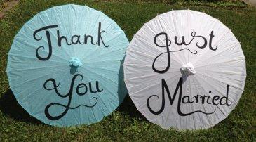 Türkiz napernyő , Turquoise wedding paper parasols Forrás:http://www.etsy.com