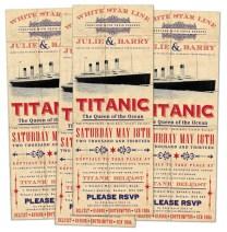 Titanic inspirációjú meghívó / Titanic inspired invitation Forrás:http://www.martymccolgan.com