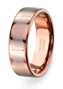 Wolfrámkarbid ( Vidia) gyűrű , Tungsten carbide wedding band Forrás:http://www.etsy.com