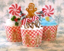 Karácsonyi cupcake dekoráció , Christmas cupcake decoration Forrás:http://www.etsy.com