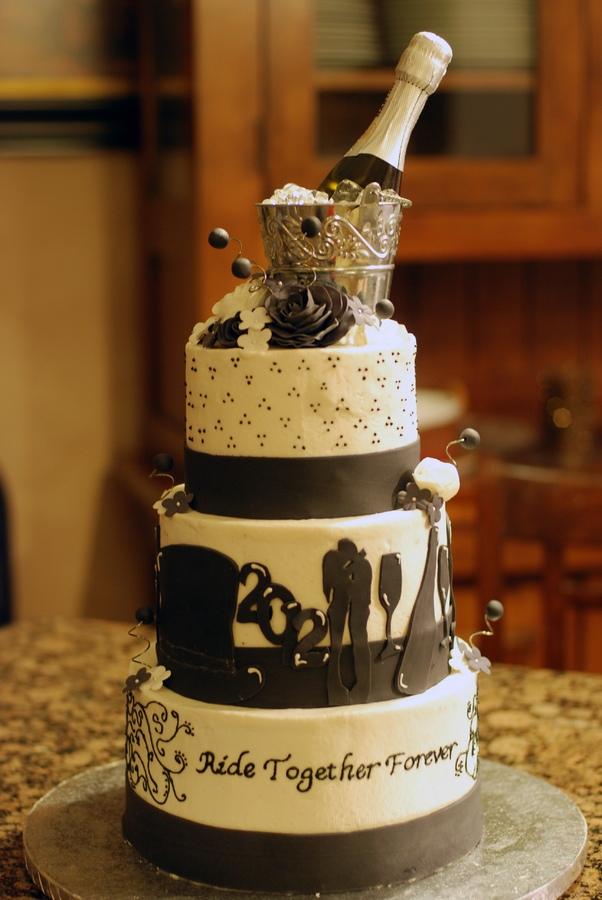 Szilveszteri menyasszonyi torta , New Years Eve Wedding cake Forrás:http://cakecentral.com