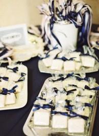 Tengerészkék köszönetajándék csomagolás , Navy wedding favors wrap Forrás:http://southernweddings.com