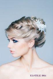 Fonott menyasszonyi frizura 15, Bridal hair braids 15 Forrás:www.elstile.ru