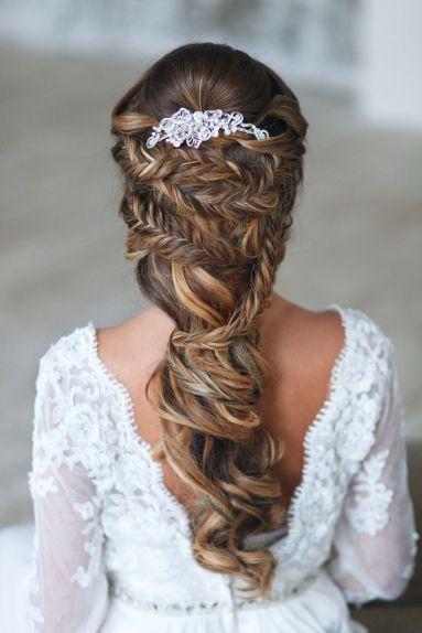 Fonott menyasszonyi frizura 17 Bridal hair braids 17 www.elstile.ru