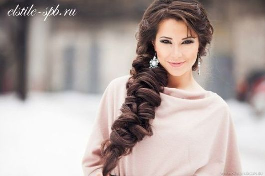 Fonott menyasszonyi frizura 4 , Bridal hair braids 4 Forrás:www.elstile.ru