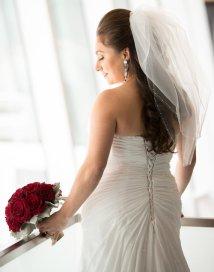 Menyasszonyi frizura buborék fátyollal 22 , Bridal hairstyles with bubble veil 22 Forrás:http://www.etsy.com