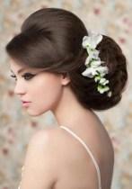Menyasszonyi frizura ,hosszú barna hajból 1 , Bridal long brown hair 1 Forrás:http://foto-pricheski.ru