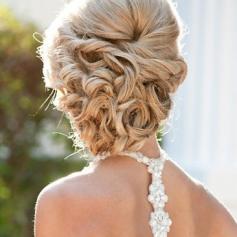 Menyasszonyi frizura ,hosszú szőke hajból 4 , Bridal long blonde hair 4 Forrás:http://foto-pricheski.ru