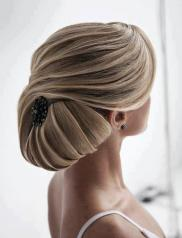 Menyasszonyi frizura ,hosszú szőke hajból 9, Bridal long blonde hair 9 Forrás:http://foto-pricheski.ru