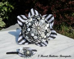 Gombos menyasszonyi csokor 7, Button bridal bouquet 7 Forrás: www.etsy.com