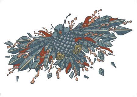 Exploding Bird Digital Print